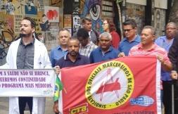 Ato na Praça da República em apoio ao Programa Mais Médicos