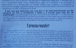 Ato Pró Lula em 11 de abril na Praça da Sé