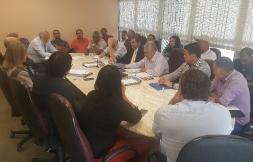 Negociação com o Sindicato Patronal no prédio da Fiesp em 17 de outubro 2017